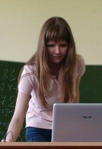 Тамбовцева Юля с компом