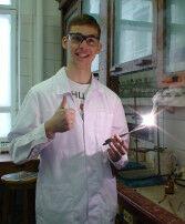 Клименко с горящим Mg 1