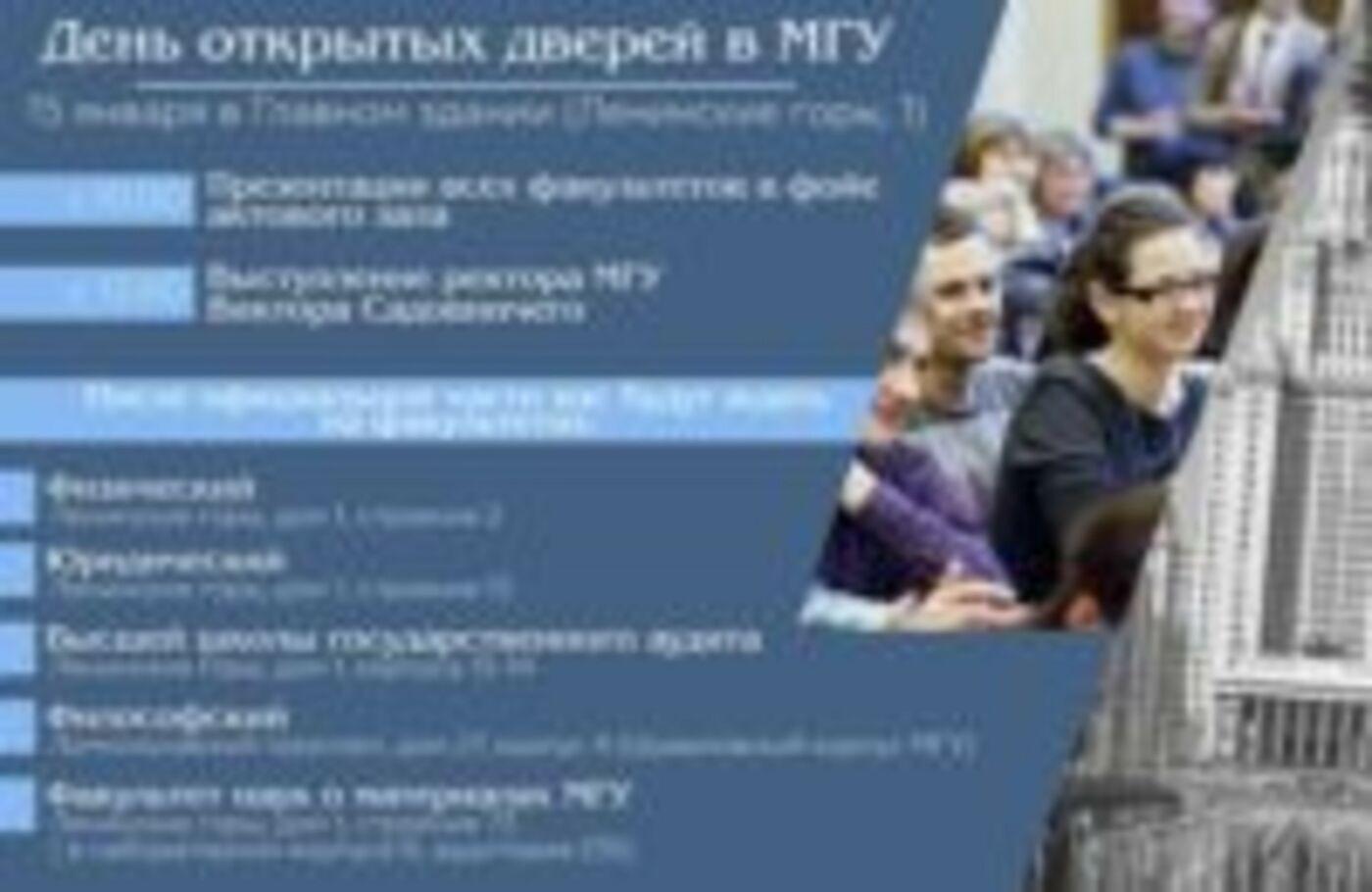 День открытых дверей в МГУ им. Ломоносова