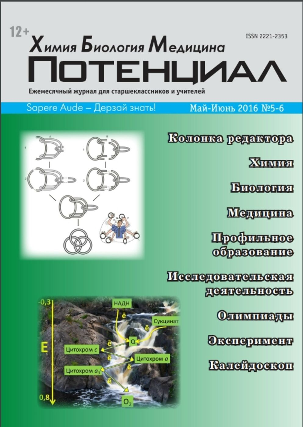 Возвращение журнала «Потенциал. Химия, Биология, Медицина»