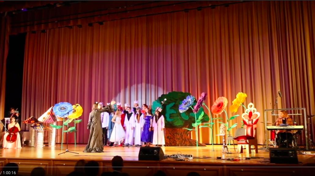 Видеозапись праздничного спектакля, поставленного учащимися СУНЦ МГУ к дню рождению школы