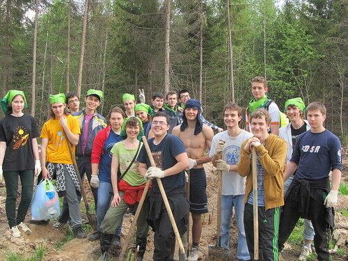 Мы сажали лес вместе с Гринпис!